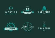 Yachting logo set Stock Photos