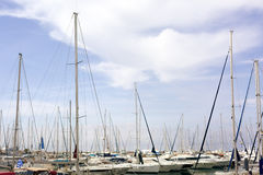 Yachting marina in Greece Royalty Free Stock Images