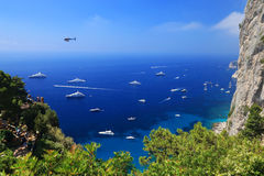 Yachting on the Mediteranean Sea Royalty Free Stock Photos