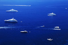 Yachting on the Mediteranean Sea Stock Photo