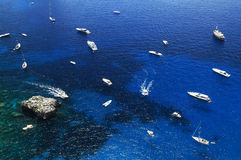 Yachting on the Mediteranean Sea Royalty Free Stock Images