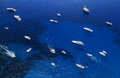 Yachting on the Mediteranean Sea stock photography