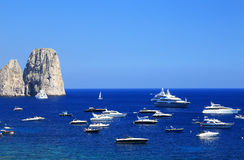 Yachting on the Mediteranean Sea Royalty Free Stock Photography
