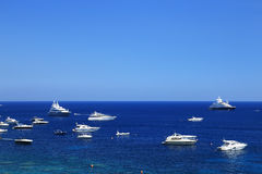 Yachting on the Mediteranean Sea Stock Images