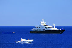 Yachting on the Mediteranean Sea Royalty Free Stock Image