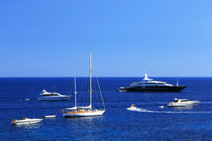 Yachting on the Mediteranean Sea Stock Photos