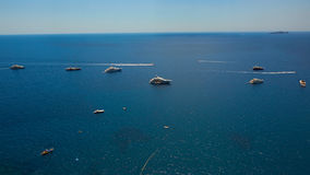 Yachting on the Mediteranean Sea, Capri Island, Europe. royalty free stock photo