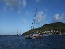 A yachting mishap in the caribbean on christmas day stock video
