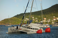 A yachting mishap on christmas day Royalty Free Stock Image