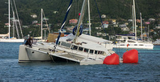 A yachting mishap on christmas day Stock Photography