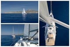 Yachting. Navigação romântica fotografia de stock royalty free