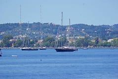 Yachting no console de Corfu Fotografia de Stock