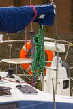 Yachting, Parts of sailboat in port of sailing Royalty Free Stock Image