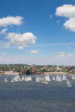 Yachting race start Royalty Free Stock Images