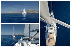 Yachting. Romantic Sailing Royalty Free Stock Photography