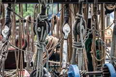 Yachting ropes background royalty free stock photography