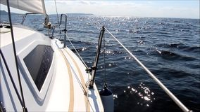 Yachting stock video footage