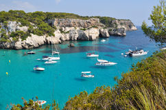 Yachting and sailing on Menorca balearic island Stock Photography