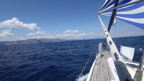 Yachting. Sailing. Yacht. Tourism. Luxury Lifestyle. stock video footage