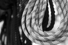 Yachting and shipping. Rope knots. Sea travel. Yachting and shipping. Rope knots royalty free stock photo