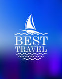 Yachting symbol with travel header Royalty Free Stock Image