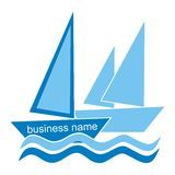 Yachting - symbol Royalty Free Stock Photos