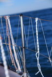 Yachting. View of different parts of yacht Royalty Free Stock Photo