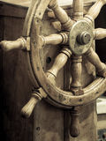 yachting Volante de madera de la nave Detalle del velero Foto de archivo