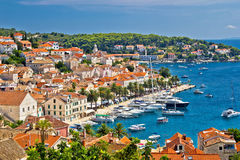 Yachting waterfront of Hvar island Royalty Free Stock Images