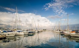 Yachtjachthafen San Antonio Stockfoto