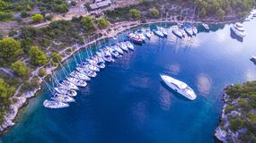 Yachtklocka från över Royaltyfri Foto