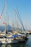 Yachtklumpen in Kemer, die Türkei Lizenzfreies Stockfoto