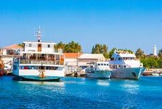 Yachtliegeplatz Stockfotos
