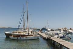 Yachtliegeplatz Stockfoto