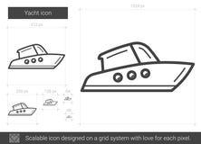 Yachtlinje symbol royaltyfri illustrationer