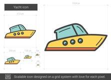 Yachtlinje symbol vektor illustrationer