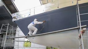Yachtmålning Arkivbild