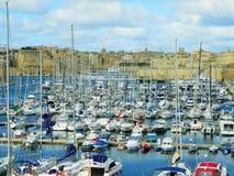 Yachtmarina Cottonera, Malta Fotografering för Bildbyråer