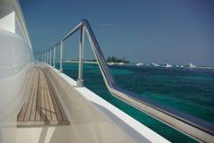Yachtparty in Meer Stockbild