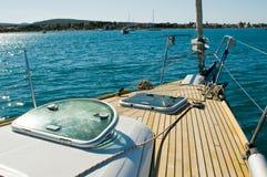 Yachtplattform Stockfoto