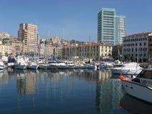 Yachtport i Savona Royaltyfria Bilder