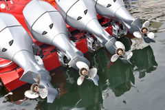 Yachtpropeller und -motor Lizenzfreies Stockbild