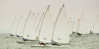Yachtrennen stockfoto