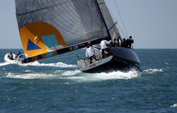 Yachtrennen in Màlaga, Spanien Stockbilder