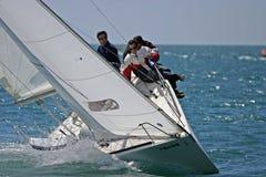 Yachtrennen in Màlaga, Spanien Lizenzfreie Stockfotografie