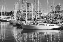Yachts à Barcelone Photos stock