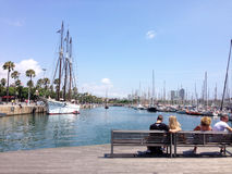 Yachts à Barcelone Photo stock