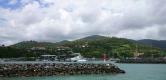 Yachts à l'île, Australie Images stock