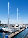 Yachts à l'ancre Image libre de droits