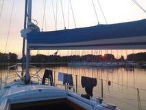 Yachts à un amarrage Images libres de droits